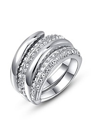 cheap -Sexy 18K Rose/White Gold Plated Multi Shining Austria Crystal Cocktail Roma Charm Ring
