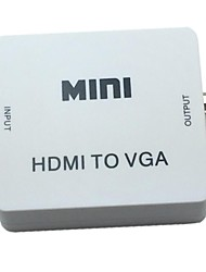 cheap -New Mini Converter White HDMI to VGA Audio Video Analog