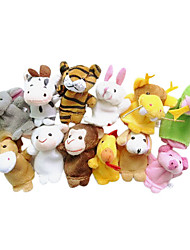 cheap -Animal Finger Puppets Puppets Cartoon Textile Plush Cute Lovely Novelty Girls' Boys' Gift