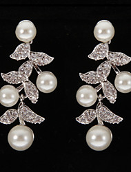 cheap -Women's Drop Earrings Rhinestone Pearl Platinum Irregular Jewelry