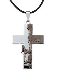 Недорогие -мода цинкового сплава шаблон крест ожерелье бабочки мужская (1шт)