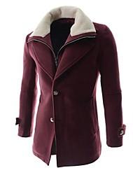 Недорогие -мужская новая конструкция чистый пальто (поддельные из двух частей)