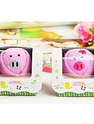 Birthday Gift Pig Shape Fiber Creative Towel (Random Color)