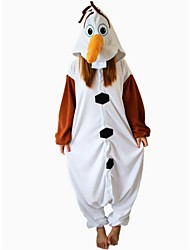 kigurumi Pyjamas Bonhomme de neige Costume Marron Polaire Kigurumi Collant / Combinaison Cosplay Fête / Célébration Pyjamas Animale