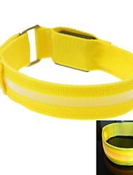 Недорогие -свет водить экран повязку ремешок повязку желтый (2xcr2032)