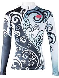 ILPALADINO Maglia da ciclismo Per donna Manica lunga Bicicletta Maglietta/Maglia Top Asciugatura rapida Traspirante 100% poliestere