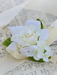 cheap -Wedding Flowers Hand-tied Roses Wrist Corsages Wedding Party/ Evening Satin