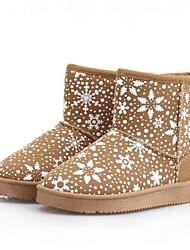 neve estilo rainha botas de inverno térmicas baixas das mulheres padrão do floco de neve