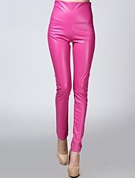 preiswerte -incern®women ist dehnbar edle weiße Leder Samt Hose (mehr Farben)