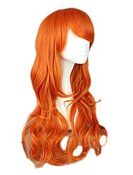 Недорогие -One Piece Nami Жен. 26 дюймовый Термостойкое волокно Оранжевый Аниме Косплэй парики