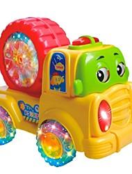 Недорогие -красочный ребенку мультфильм колеса автомобиля с музыкой и светом