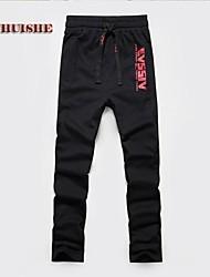 Chino / Pantaloni della tuta Uomo Casual Con stampe / A strisce Cotone Nero / Rosso / Grigio