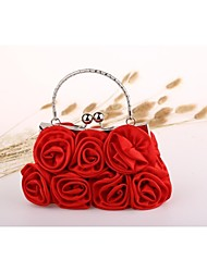 cheap -Women's Bags Nylon Evening Bag Flower Black / Red / Apricot