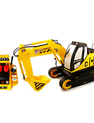 Недорогие -goldlok 2803-02 среднего размера RC автомобилей электрический экскаватор игрушка дистанционного управления автомобилем с легким звуком