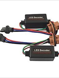 baratos -carro 7443 t20 LED aviso carga cancelador decodificador resistor luz - 2pçs