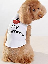 povoljno -Pas T-majica Odjeća za psa Pismo i broj Obala Pamuk Kostim Za kućne ljubimce