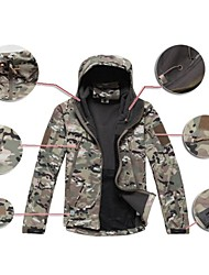 cheap -Camouflage Hunting Jacket Men's Waterproof Quick Dry Rain-Proof Front Zipper Wearable High Breathability (>15,001g) Breathable Digital