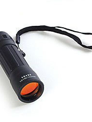Недорогие -10x 25 мм Бак-7 под рукой портативный мини HD алюминиевого сплава и резины монокуляр телескоп