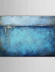 cheap -Hand Painted Oil Painting Abstract Blue Painting with Stretched Frame