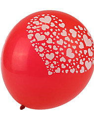 cheap -Extra Large Size Red Thick Heart Broken Round Balloons--Set of 24