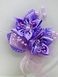 Bouquet sposa Forma libera Rose Fiore all'occhiello Matrimonio Partito / sera Raso
