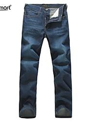 baratos -Homens Jeans Calças, Algodão Sólido