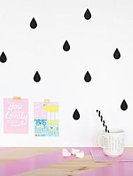 decalques de parede adesivos de parede, pingo de chuva dos desenhos animados de parede pvc adesivos.