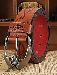 cheap -Men's Work Casual Leather Waist Belt - Solid Colored