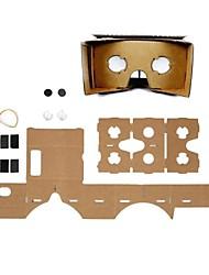 óculos de realidade virtuais 3D do cartão de DIY para iphone 6 / Samsung Galaxy S5 / S4 / lg G3 / G2 / Google Nexus 5 / nexus 4