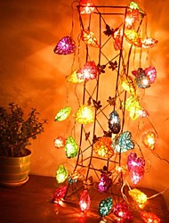 cheap -JIAWEN® 4M 20LEDs RGB LED Heart-Shaped String Light String Light for Decoration (AC 110-220V)