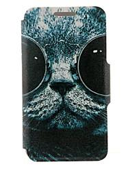 billige -Etui Til Nokia Lumia 625 / Nokia Lumia 630 / Nokia Etui Nokia Kortholder / Flipp Heldekkende etui Katt Hard PU Leather til
