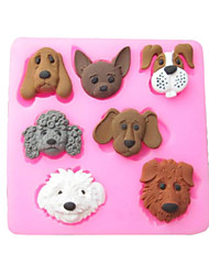 cheap -Seven Carton Dogs Baking Fondant Cake Choclate Candy Mold,L7.2cm*W7.1cm*H1cm