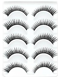 cheap -New 5 Pairs Natural Looking Black Long Thick False Eyelashes Eyelash Eye Lashes for Eye Extensions