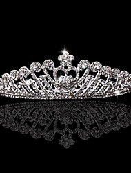 cheap -Crystal Rhinestone Fabric Tiaras 1 Wedding Special Occasion Party / Evening Headpiece