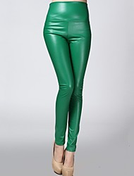 cheap -Women PU Pants , Fleece Lining