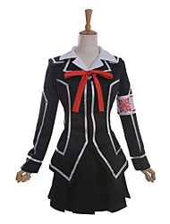 Inspired by Vampire Knight Kuran Anime Cosplay Costumes Cosplay Suits School Uniforms Patchwork Long Sleeve Coat Shirt Skirt Armlet Ribbon