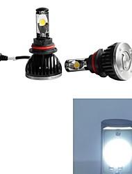cheap -2pcs 9004 Car Light Bulbs 30W 2200-5200lm 2 Working Light / Fog Light