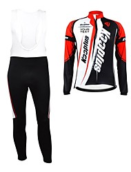 cheap -Kooplus Men's Women's Unisex Long Sleeves Cycling Jersey with Bib Tights Bike Bib Tights Jersey Clothing Suits Text Color 6# Text Color