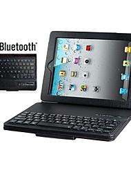 tanie -faux skórzane klapki przypadku wbudowany Bluetooth klawiatura dla ipad 2/3/4 (różne kolory)