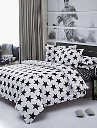 cheap -Factory Direct Starry Bedlinen White And Black Printed Comforters Plain Cotton Bedding Set Twin Queen King Wholesale