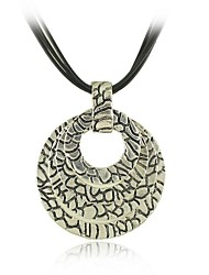 baratos -moda metal com antique prata banhado vários pingentes círculo colar
