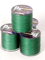 cheap -300M / 330 Yards PE Braided Line / Dyneema / Superline Fishing Line Green 80LB 0.45 mm ForSea Fishing / Fly Fishing / Bait Casting / Ice