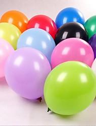 preiswerte -12-Zoll dick matt Weihnachten Geburtstag Hochzeitsdekoration bunte Ballon (100 Stück)