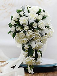 Wedding Flowers Free-form Cascade Roses Bouquets Wedding Party/ Evening Foam