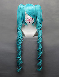 cheap -Cosplay Wigs Vocaloid Hatsune Miku Anime/ Video Games Cosplay Wigs 68 CM Heat Resistant Fiber Women's