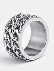 billige -personlig gave mænds ring rustfrit stål indgraveret smykker