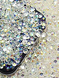 cheap -2000PCS Colorful Flatback Resin Gems 3mm Handmade DIY Craft Material/Clothing Accessories