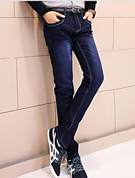 Недорогие -упругая сила тонкие джинсы мужские
