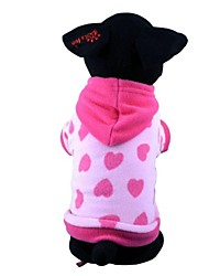 cheap -Dog Hoodie Pajamas Dog Clothes Cute Casual/Daily Heart Red Blue Costume For Pets