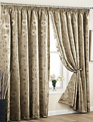 Rod Pocket Grommet Top Tab Top Double Pleated Pencil Pleated Two Panels Curtain Neoclassical European Modern Country Living Room Polyester